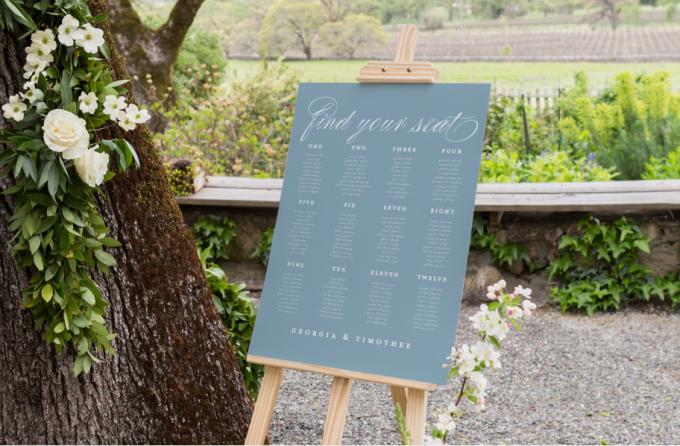 day of wedding stationery