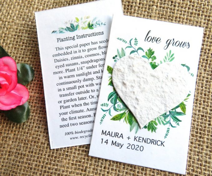 wedding favor with seeds