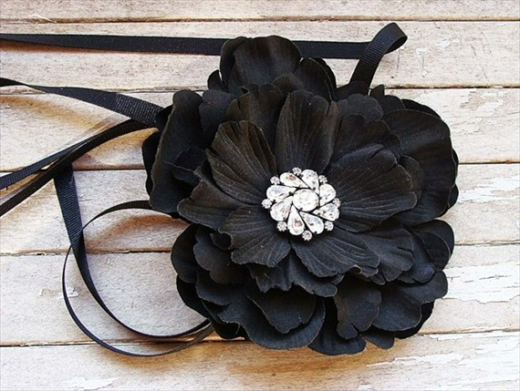 Flower Belts for Wedding Dresses (by Caroline Alexander via EmmalineBride.com) #handmade #wedding