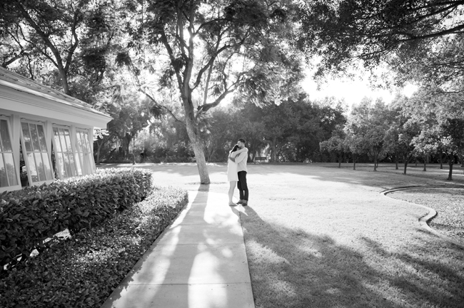 he holds her at their Santa Fe Springs engagement session
