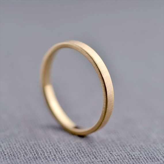 Recycled Wedding Rings: 2mm gold wedding ring