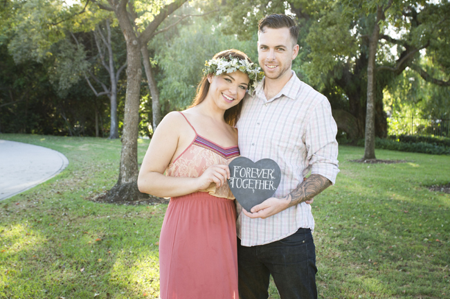 chalk board engagement sign