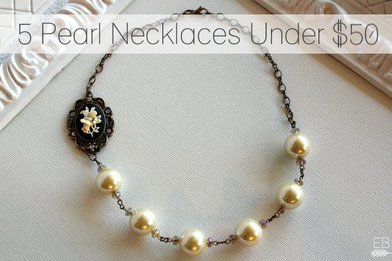 5 Pearl Necklaces Under 50