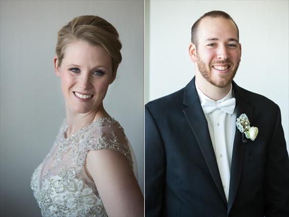 bride and groom pose - Crystal Tea Room Wedding - photo: Daniel Fugaciu Photography | via https://emmalinebride.com