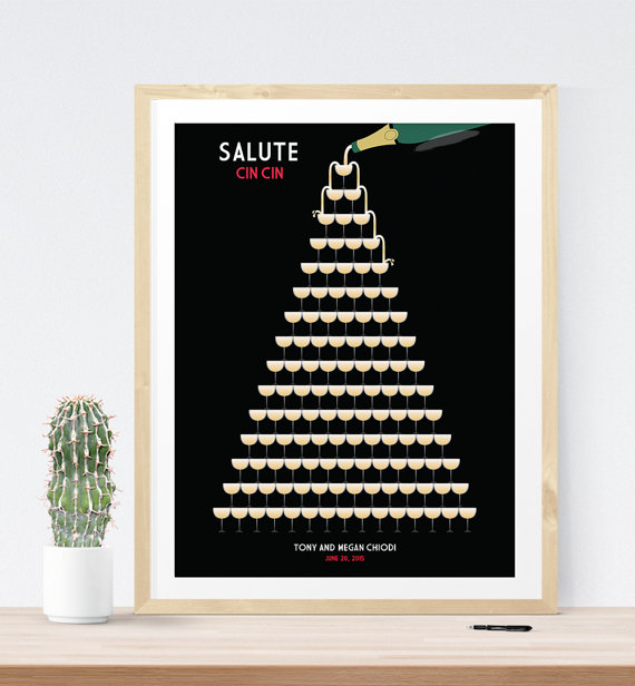 1920s Themed Wedding Art Deco Guest Book Print | 21 Unique Themed Guest Book Alternatives via https://emmalinebride.com/reception/themed-guest-book-alternatives/