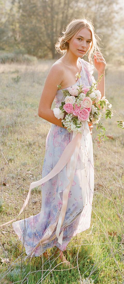 Billy   Floral Print Bridesmaid Dresses