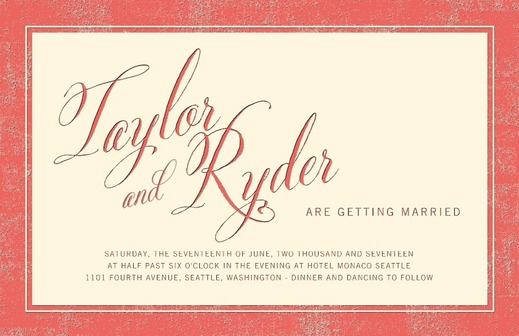 Boldly Bordered Letterpress Invitations Weddings