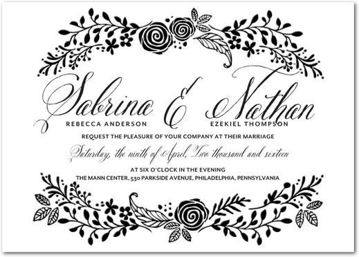 Bountiful Bliss Wedding Invitations Letterpress