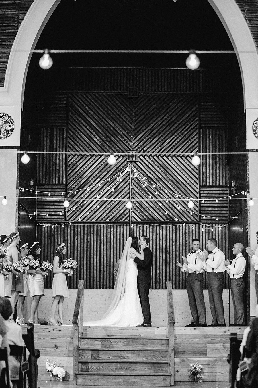 Real Weddings Brooklyn Arts Center | Photo: Eric Boneske