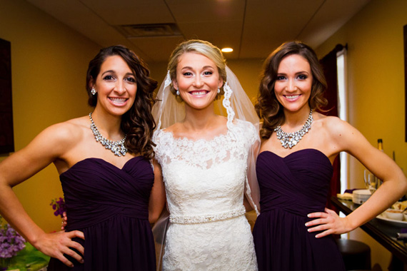 Wedding of Caitlin & Ben at The Villa - bride with bridesmaids