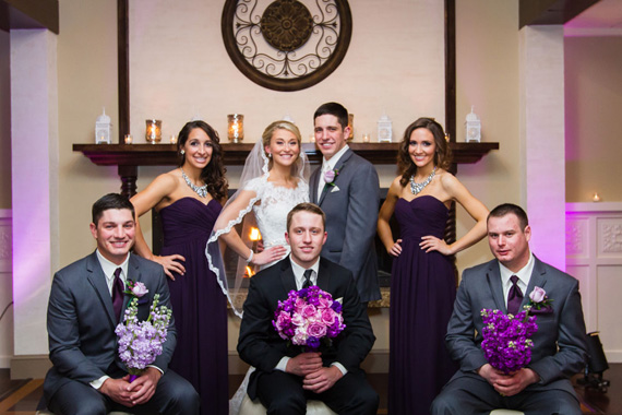 Wedding of Caitlin & Ben at The Villa - bridal party portrait