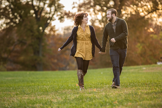 Caity and Dave's engagement session in Philadelphia
