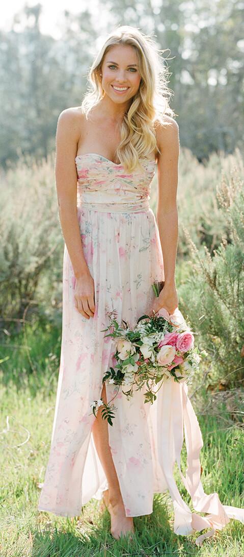 Charlie   Floral Print Bridesmaid Dress