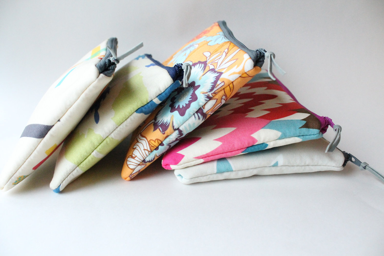 Colorful Print - Bridesmaid bags messages inside | by Allisa Jacobs | Emmaline Bride, The Handmade Wedding Blog EmmalineBride.com