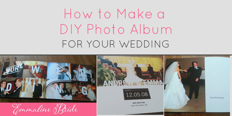 How to Make a DIY Album for Weddings | http://emmalinebride.com/gifts/diy-album-weddings/