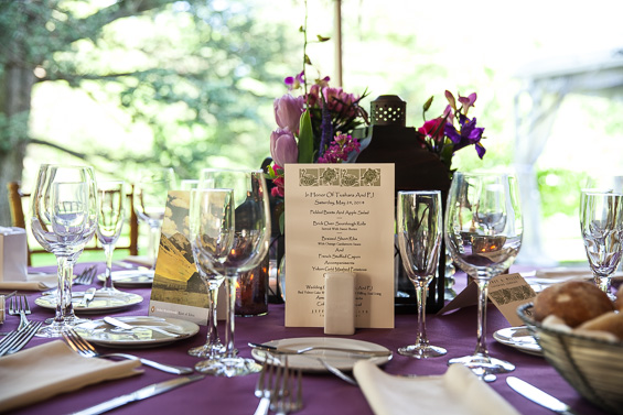 Daniel Fugaciu Photography - wedding table setting at the tyler arboretum