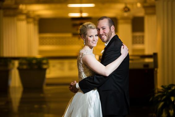 bride and groom embrace - photo: Daniel Fugaciu Photography | via https://emmalinebride.com