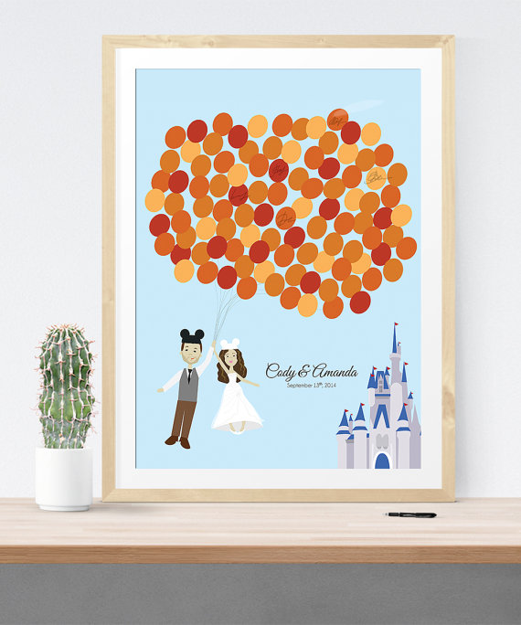 Disney Themed Wedding Guest Book Alternative Print | 21 Unique Themed Guest Book Alternatives via https://emmalinebride.com/reception/themed-guest-book-alternatives/