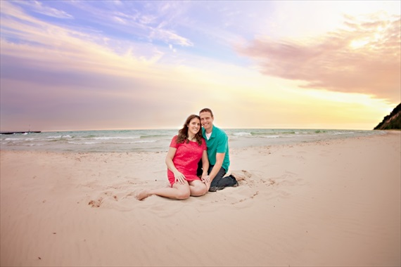 frankfort michigan engagement session - bell's wedding ale
