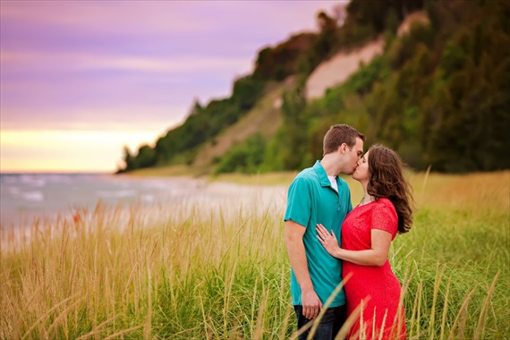 frankfort michigan engagement session