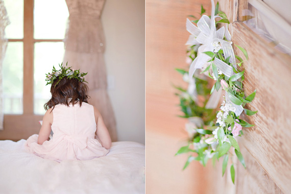 Kali Norton Photography - Mandeville Spring Wedding - flower girl with head dress