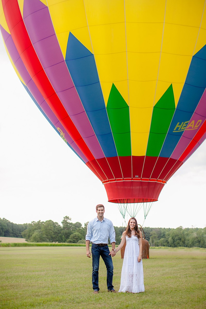 Hot Air Balloon Engagement Session | Photo: Eric Boneske