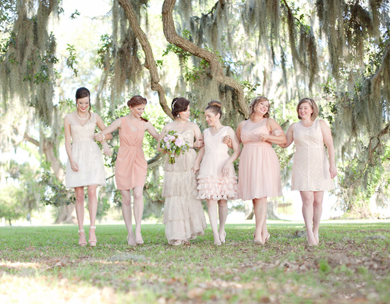 Kali Norton Photography - Mandeville Spring Wedding - bride with bridesmaids