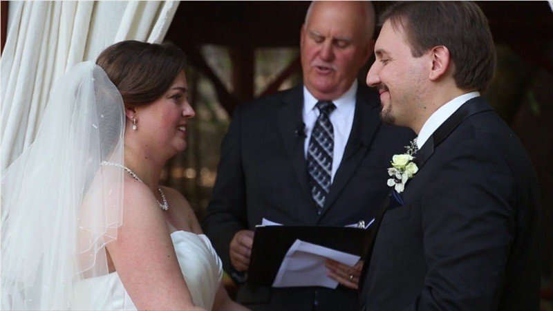 bride and groom wedding vows in Villa Chanticleer Wedding Film | Videographer: Baby Blue Film | via http://emmalinebride.com/real-weddings/villa-chanticleer-wedding-film-corey-anthony/
