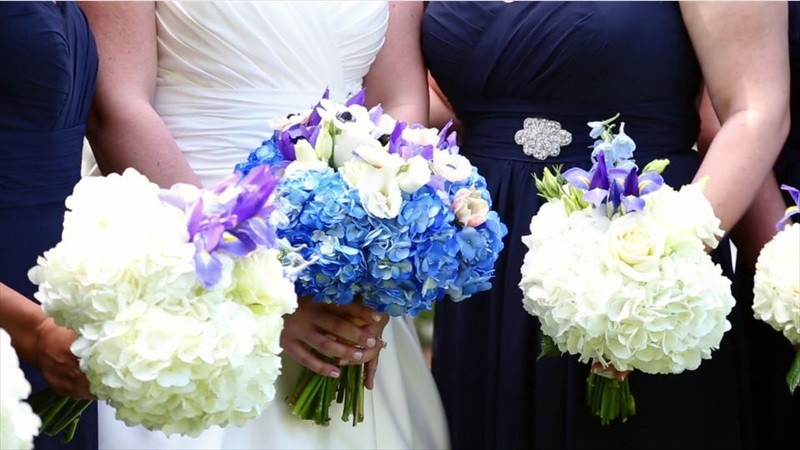 wedding bouquet flowers in Villa Chanticleer Wedding Film | Videographer: Baby Blue Film | via https://emmalinebride.com/real-weddings/villa-chanticleer-wedding-film-corey-anthony/