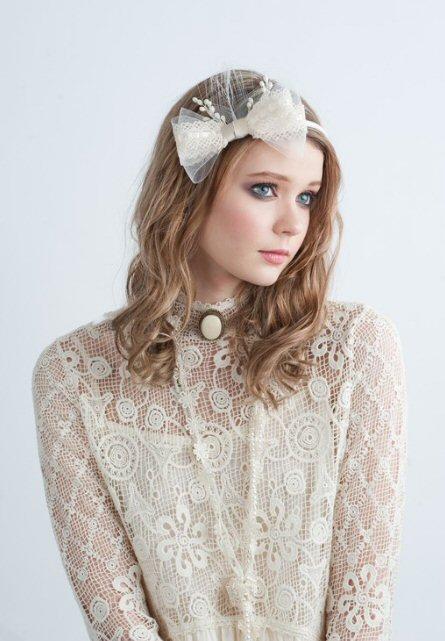 hair accessory by blair nadeau millinery (via emmaline bride) #handmade #wedding