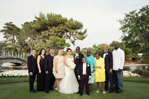 Imagine Studios - bride and groom family photo