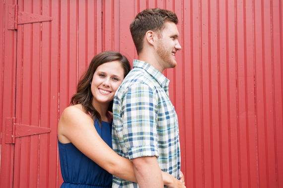 Scott Smith Photography manor house engagement session - couple at red barn
