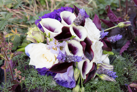 Johnstone Studios - lake tahoe wedding - purple wedding flowers