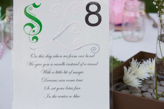 Johnstone Studios - fairytale nevada wedding, table number cards