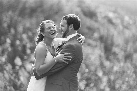 Matthew Steed Wilson Photography - bride and groom laughing - scrabble themed wedding