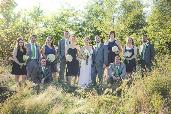 Matthew Steed Wilson Photography - bridal party at Coyote Creek Golf Course - scrabble themed wedding