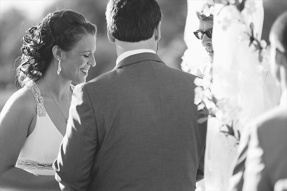 Matthew Steed Wilson Photography - bride and groom at the outdoor alter - scrabble themed wedding