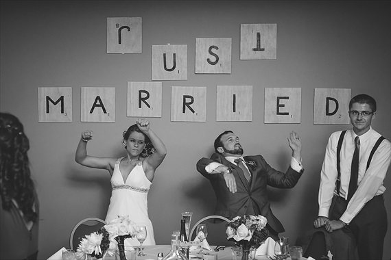 Matthew Steed Wilson Photography - scrabble themed wedding decorations