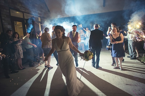 Matthew Steed Wilson Photography - bride and groom exit with sparklers