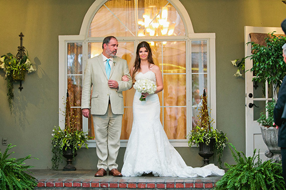 Tate Tullier Photography - Gatehouse wedding - father-of-bride-walks-her-down-aisle