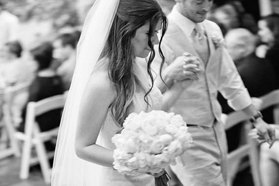 Tate Tullier Photography - Gatehouse wedding - bride-and-groom-married-walk-up-aisle