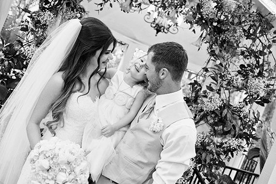 Tate Tullier Photography - Gatehouse wedding - bride-and-groom-with-flower-girl