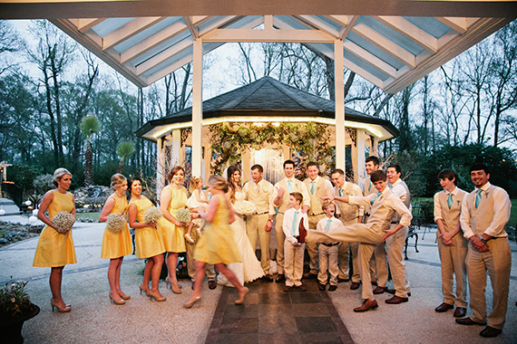 Tate Tullier Photography - Gatehouse wedding - bridal-party-fun-photo-at-the-gatehouse
