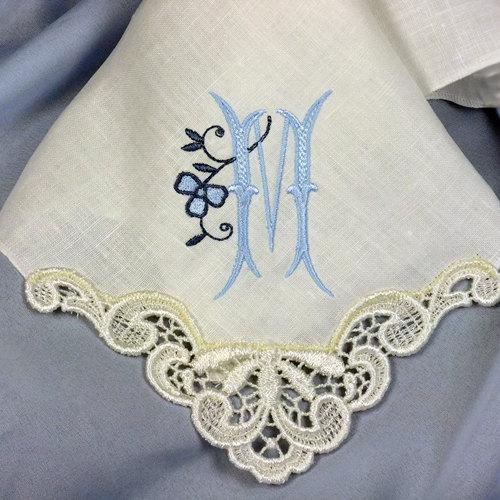 Monogrammed Wedding Handkerchiefs