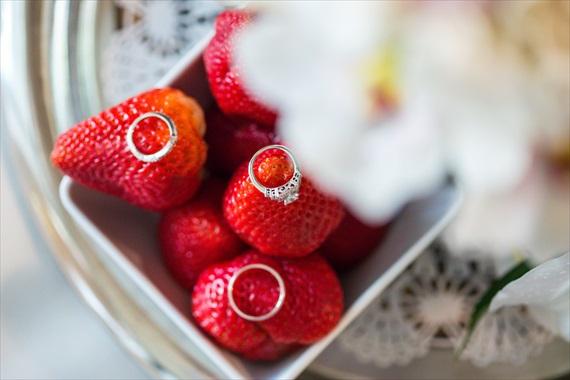 Filda Konec Photography - Hemingway House Wedding - wedding rings photo with strawberries
