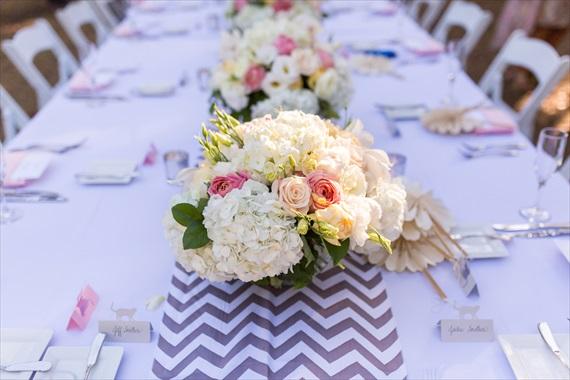 Filda Konec Photography - Hemingway House Wedding - key west wedding table with flowers