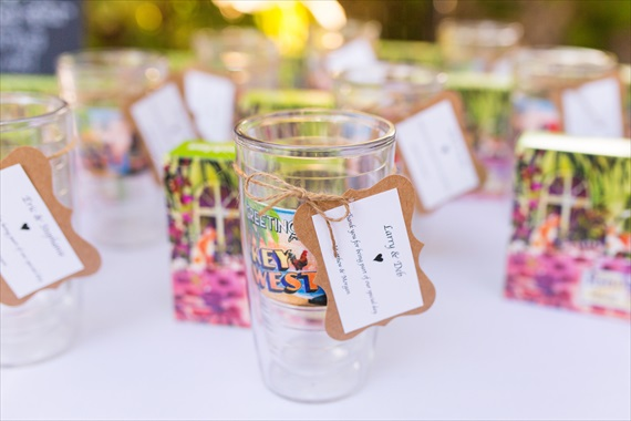Filda Konec Photography - Hemingway House Wedding - key west tervis tumblers as guest gifts