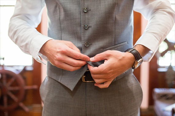 Filda Konec Photography - Hemingway House Wedding - groom buttons vest