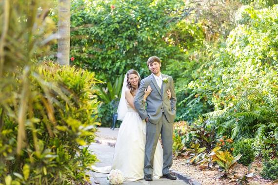 Filda Konec Photography - Hemingway House Wedding - bride and groom at key west wedding