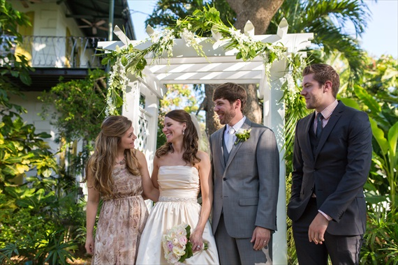 Filda Konec Photography - bride with bridal party at the hemingway house in key west